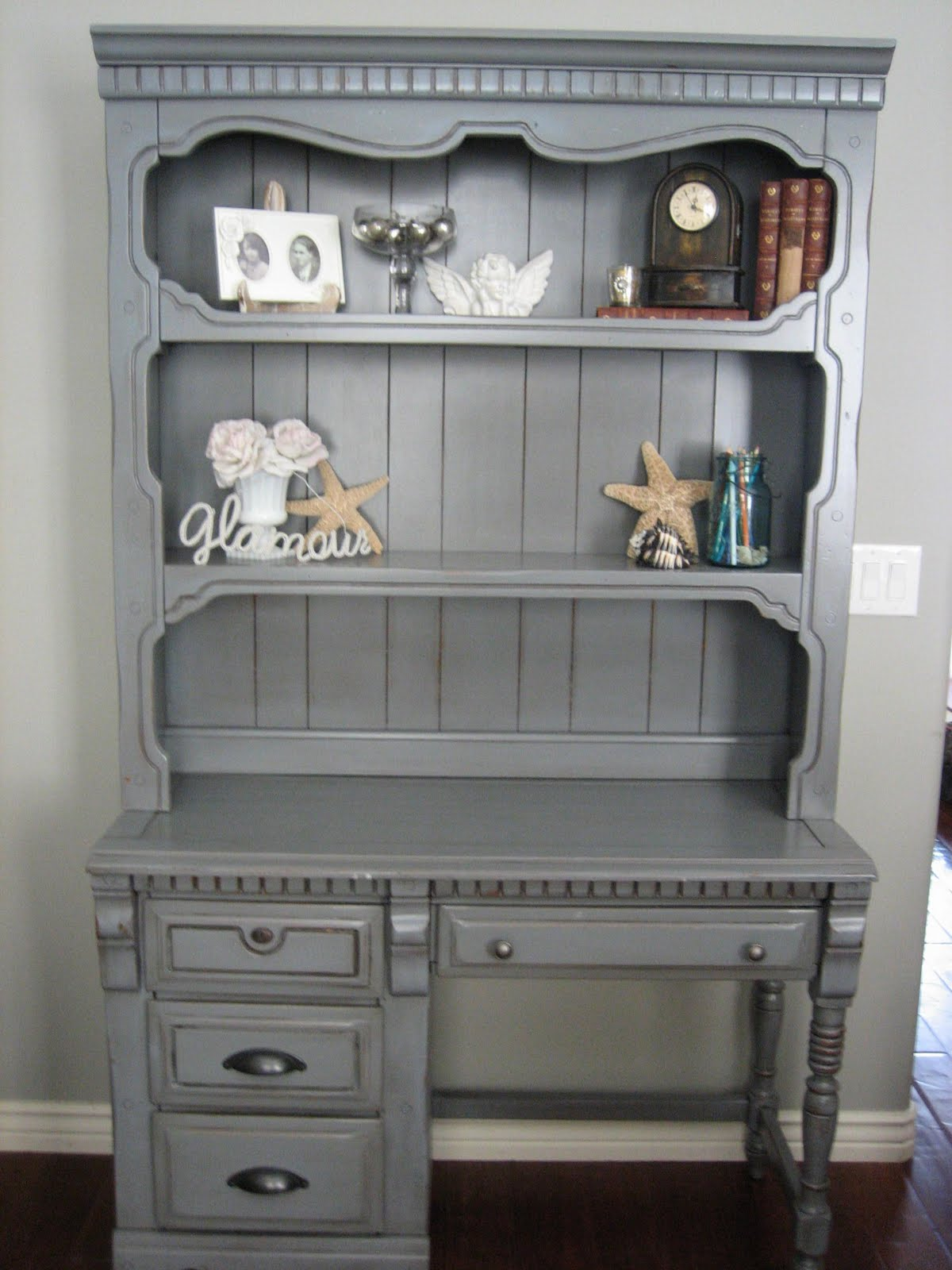 European Paint Finishes Storm Cloud Desk W Hutch Amp Chair