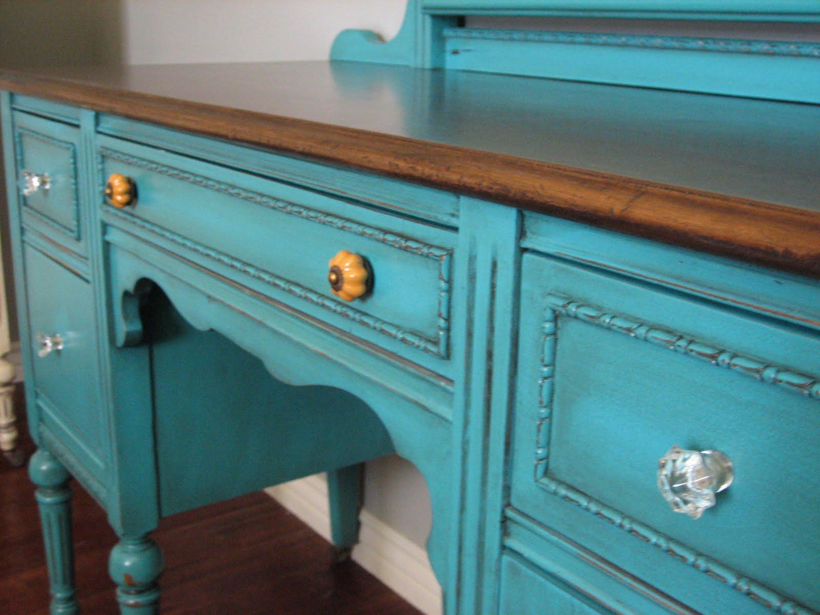 Turquoise/Teal & Cream Bedroom Set