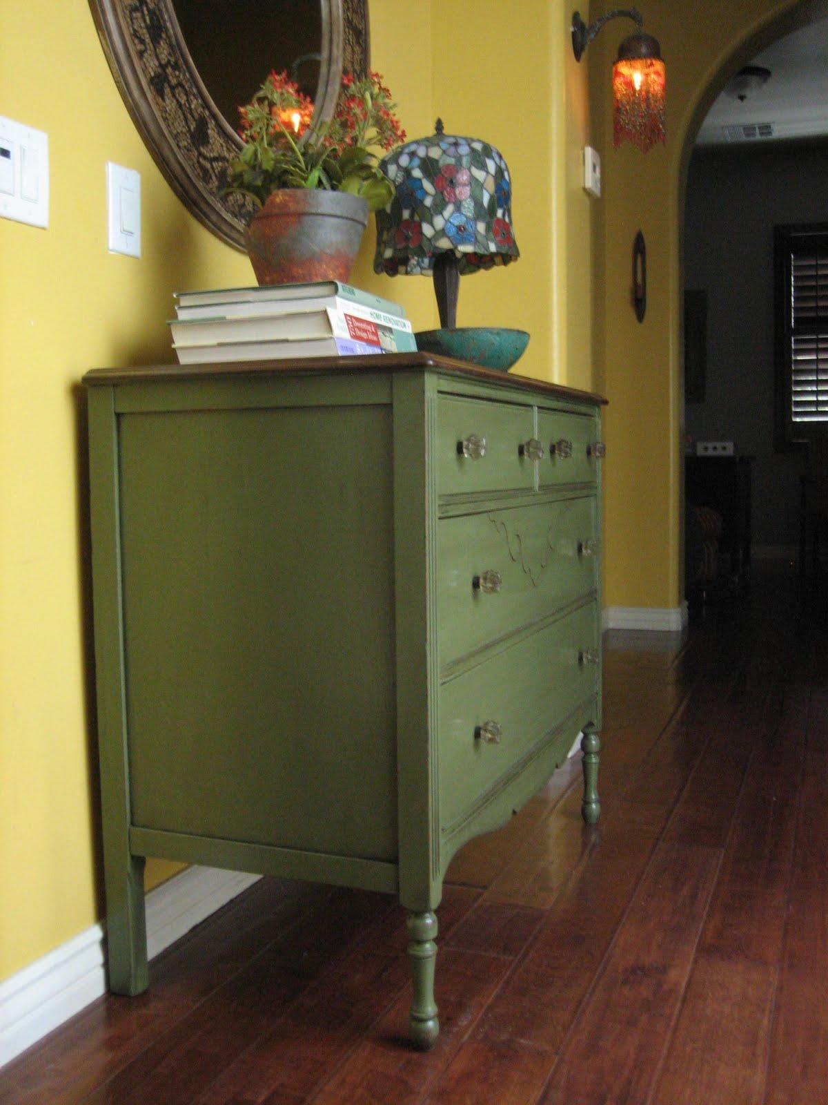 Army Green Dresser