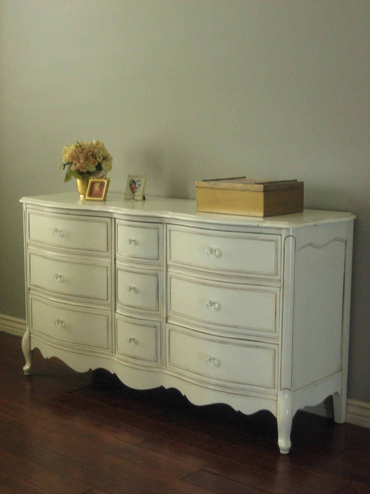 European Paint Finishes: ~ French Bowed Dresser