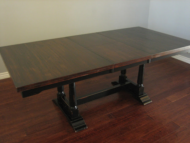 European Paint Finishes Trestle Dining Table