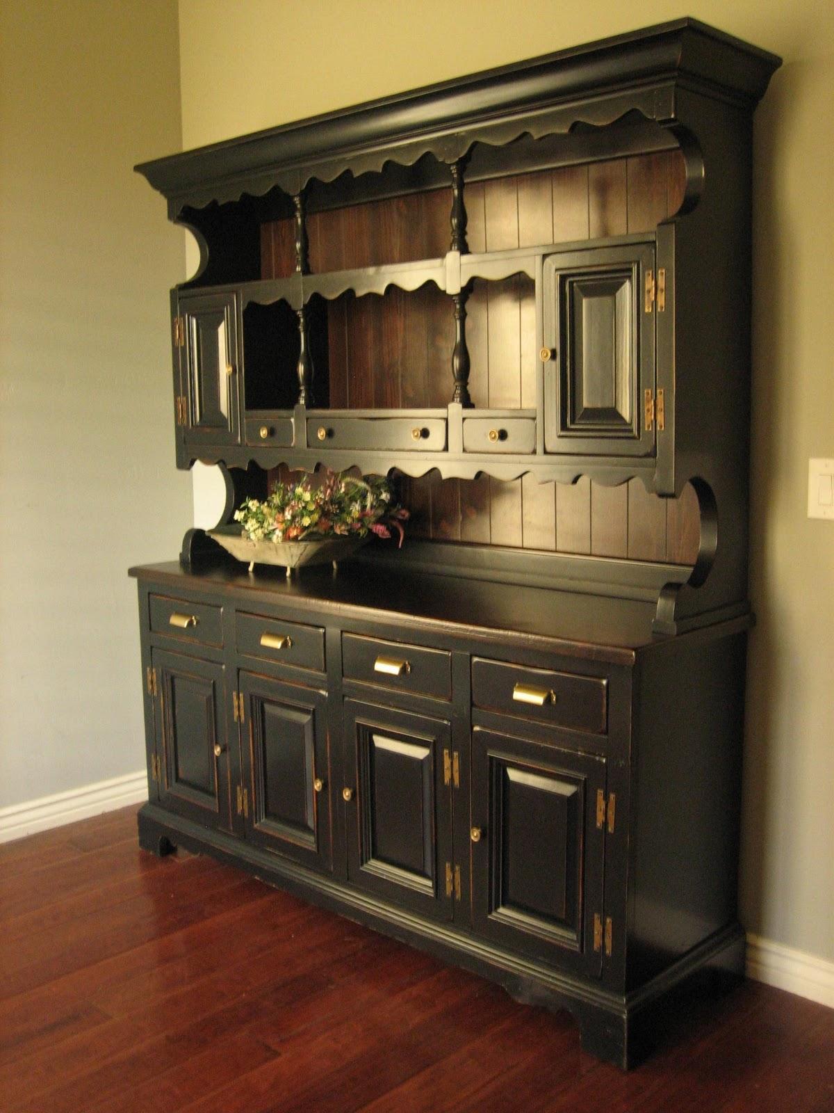 Dining Room Hutches Small Hutch Furniture Room Furniture: Rustic Black Farmhouse Hutch