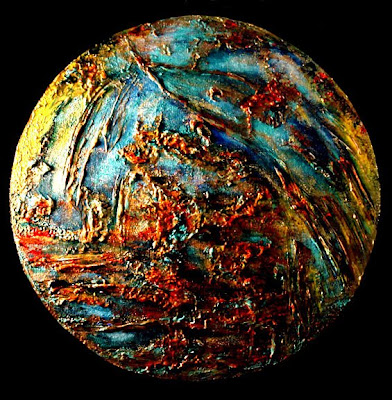 A Painting A Day Objets d' Art: Pangaea Oxide Earth ... Earth Painting Oil