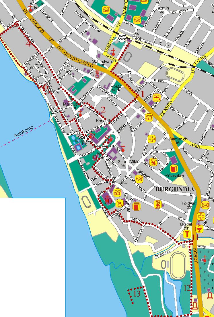 esztergom város térkép MAGYAR BARANGOLÓ: Vác esztergom város térkép