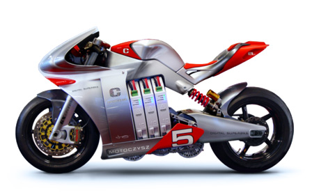 Cool Superbike with iPhone Dashboard
