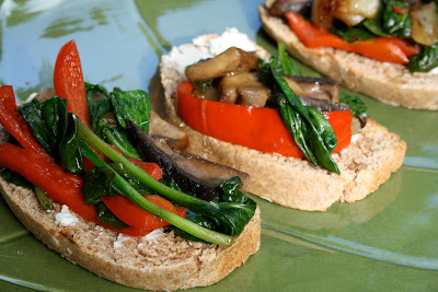 Open Faced Veggie Sandwiches