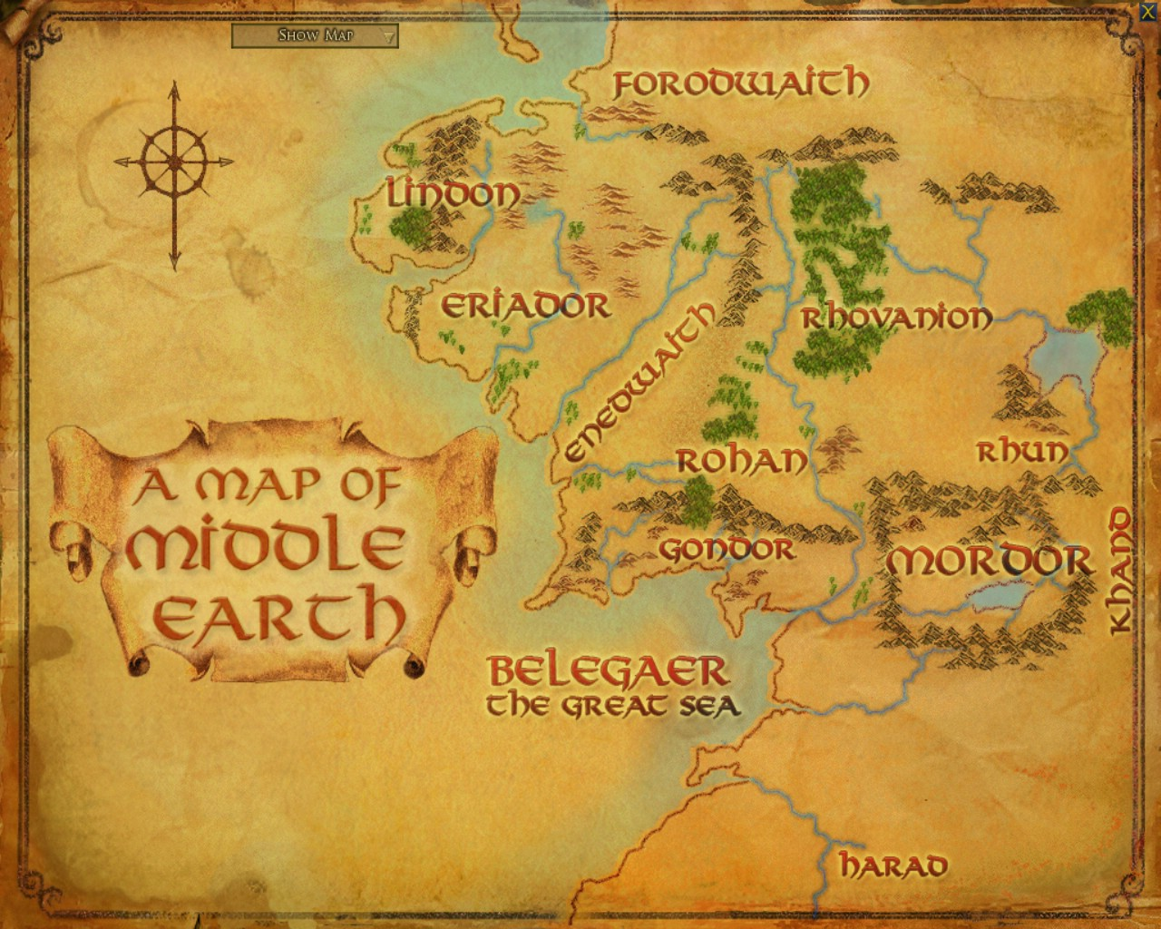 earth map middleearth map