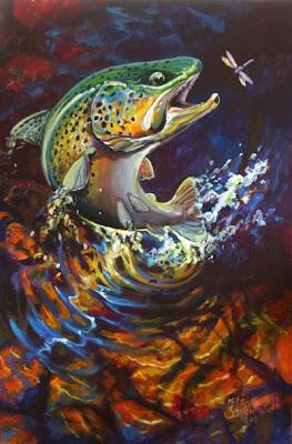 The Female Angle Fish Artist Mike Savlen