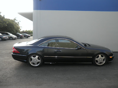 Mercedes Benz CL55 AMG repaired at Almost Everything Bodyshop