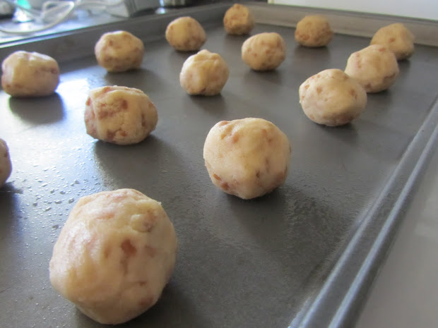 Denim Dessert Skor Toffee Bits Cookies