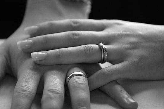 Shanell S Blog 10k White Gold Men 39s And Women 39s Wedding Rings
