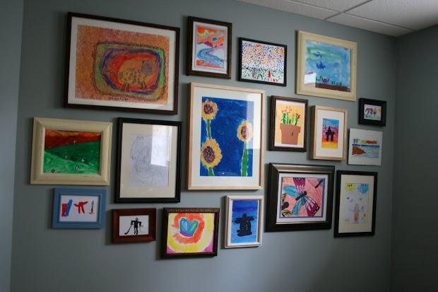 Kids Art Gallery Wall Idea