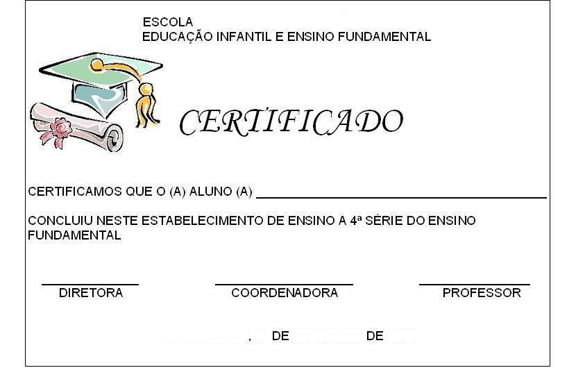 AMIGA DA EDUCAÇÃO MODELO DE CERTIFICADO!!! - modelos de certificados