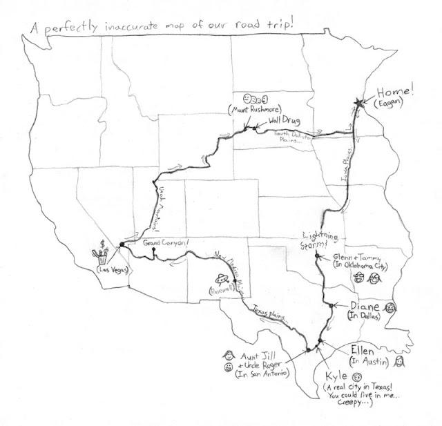 Road Trip Sketch Templates