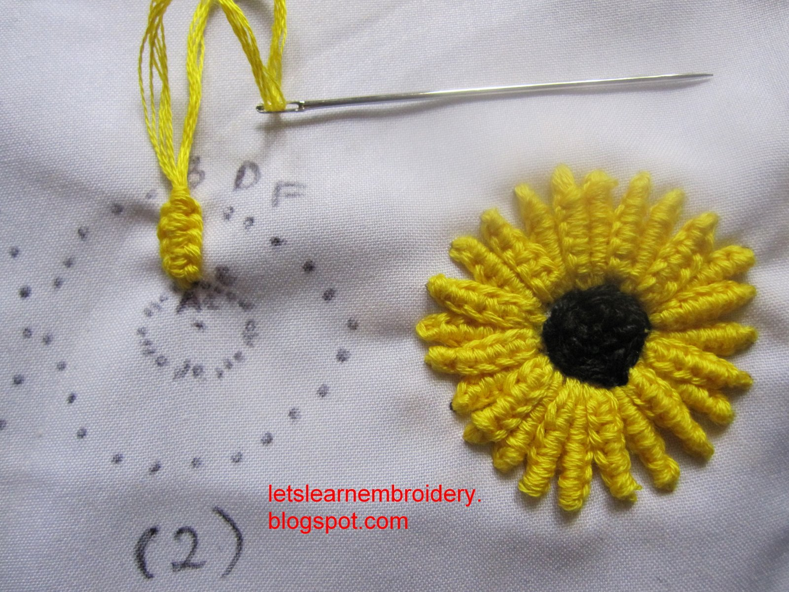 Let s learn embroidery october