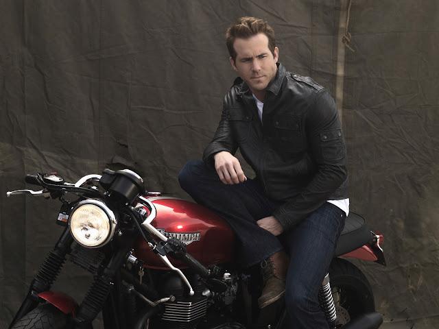 Ryan Reynolds Celebrities & Motorcycle
