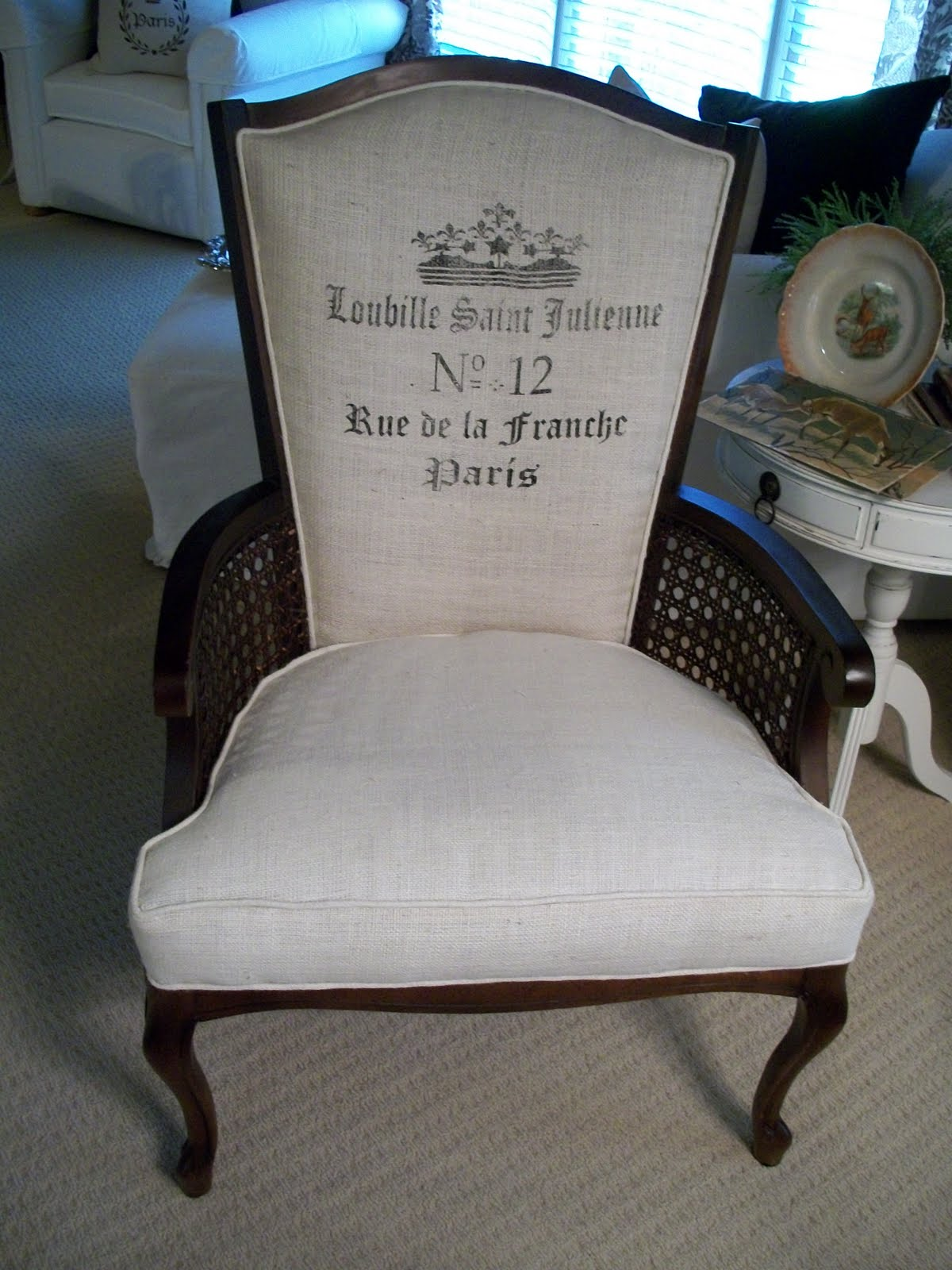 Burlap Sofa Chair Corner Bed Canada Chippys French