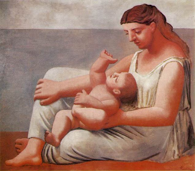 Femme et enfant au bord de la mer (Woman and Child on the Seashore) by Pablo Picasso, 1921