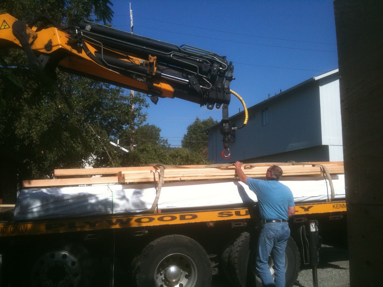 430 design/build: Week 8: Sheathing, CAD and the Steel Beam