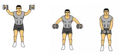 body fitness shoulder dumbbell exercises