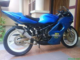 Lipby Blogs Motorsport Modification Hot Motorcycle Ninja 125 Blue Krr