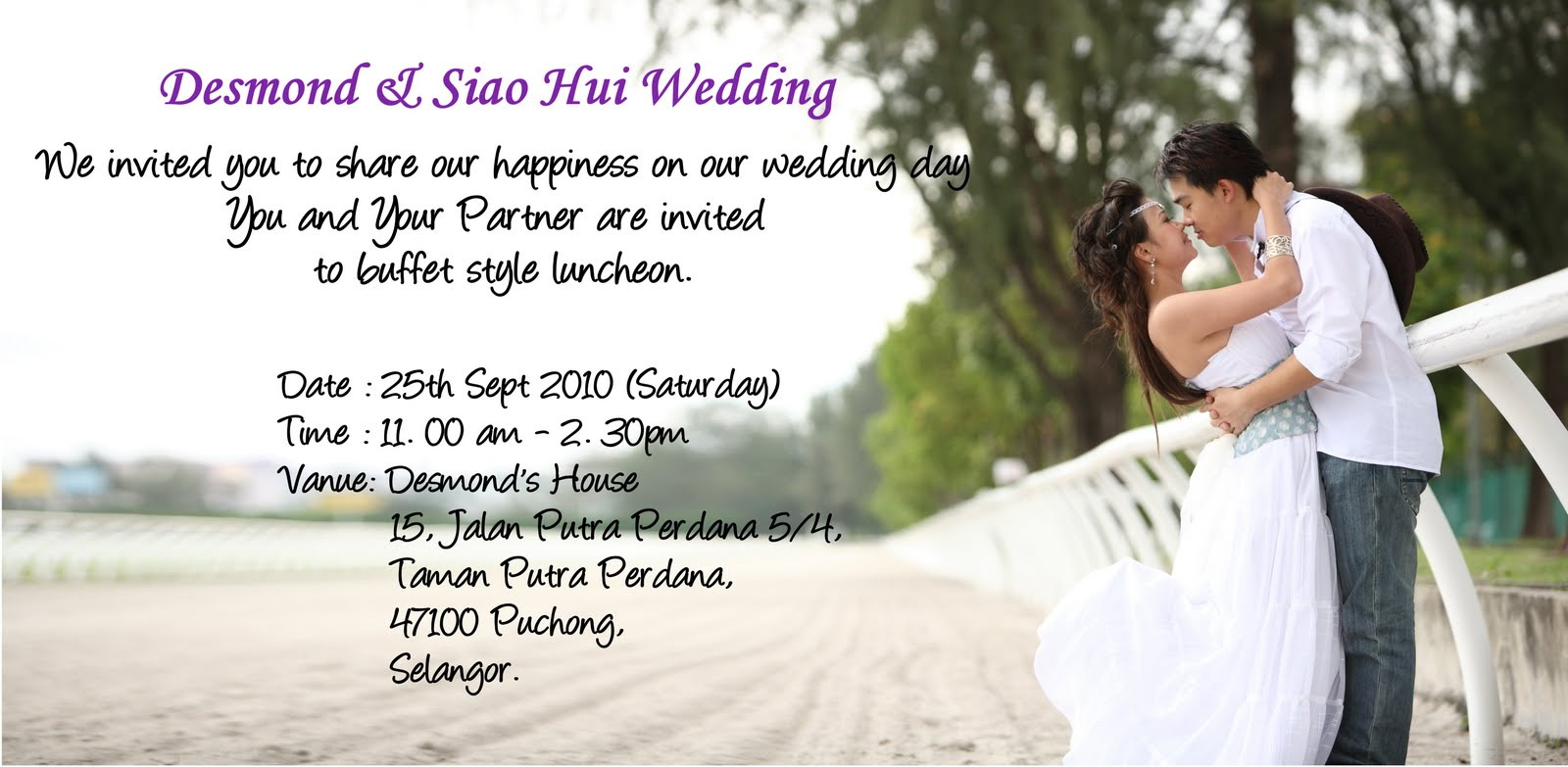 E Card Wedding Invitation: D&H Wedding: E-Invitation Card For Buffet Luncheon