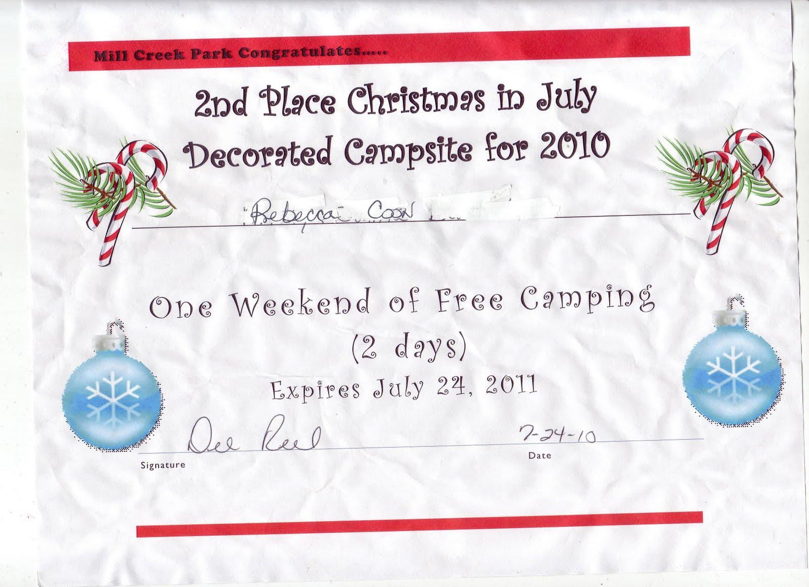 Christmas In July Camping.Ella Mae S Pink Christmas In July