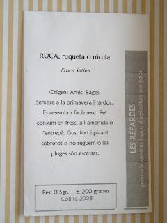 PLANTERO RUCULA Y ESPINACAS EN OTOÑO 2009