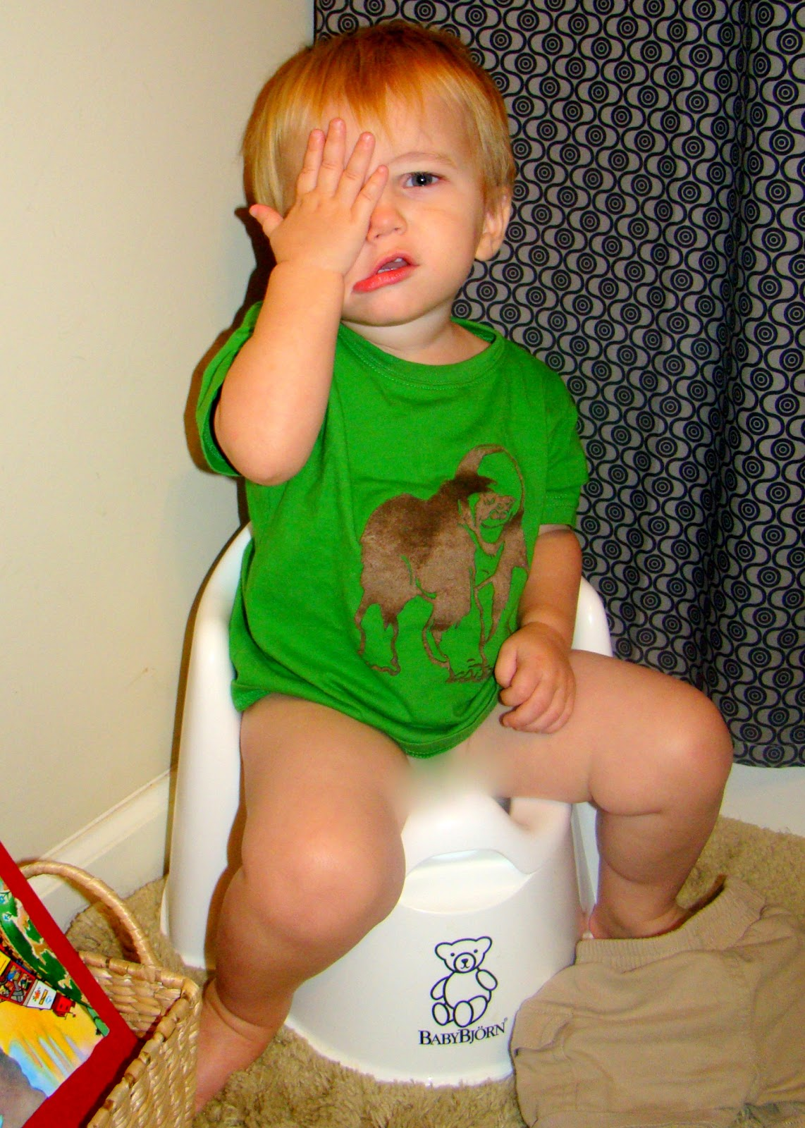Almost Wordless Wednesday: Potty