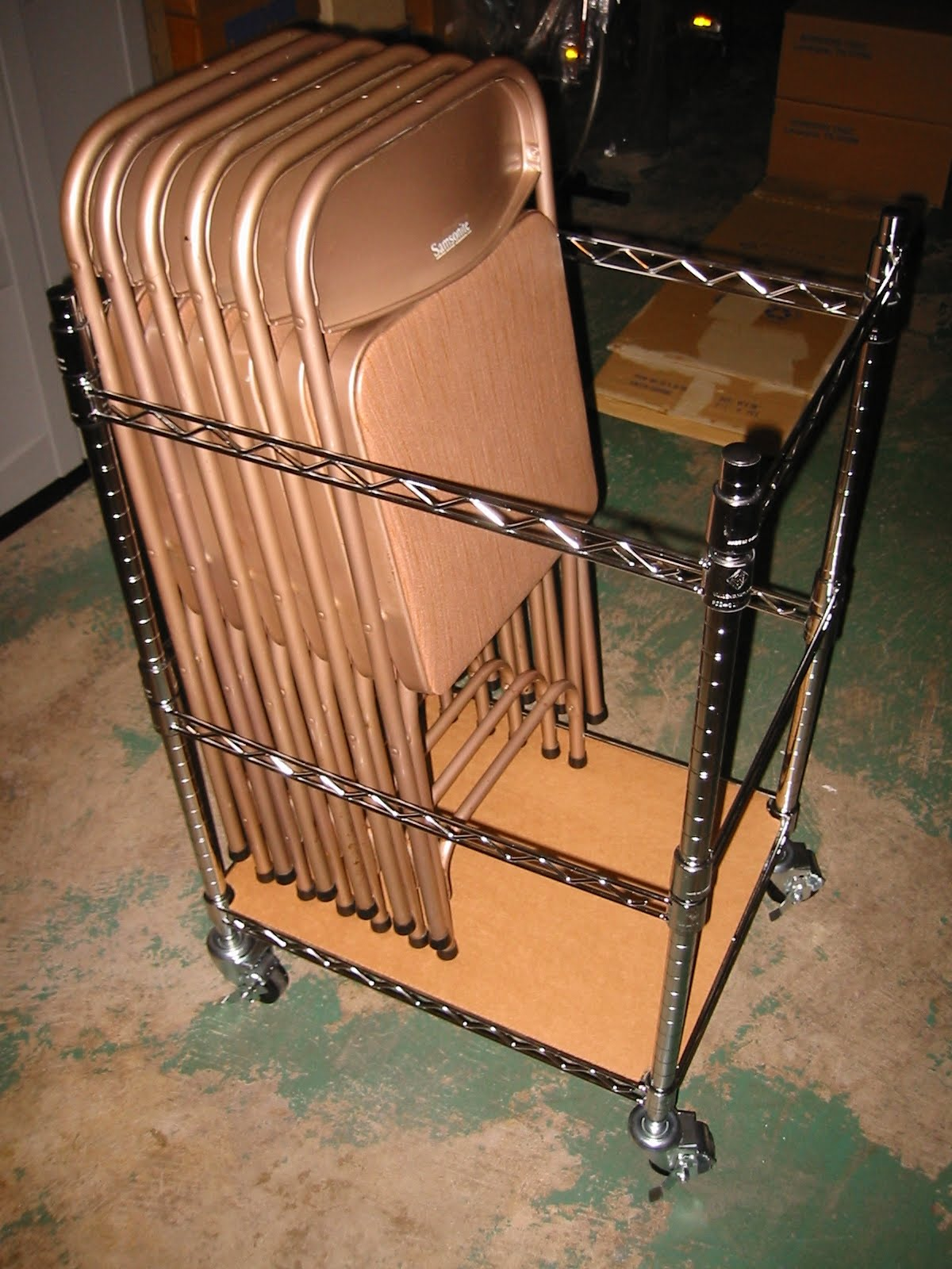 Creative Card Table Chair Storage The Shelving Store