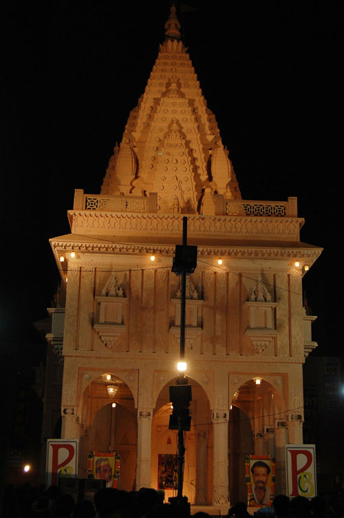 Varanasi view durga pandal at sanatan dharma inter college durga pandal at sanatan dharma inter college altavistaventures Choice Image