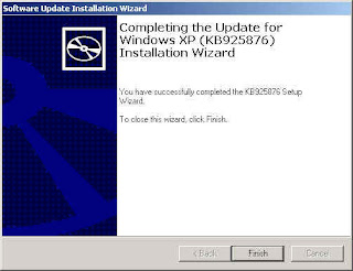 Completing Install Wizard