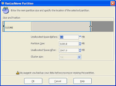 Resize - Move Partition