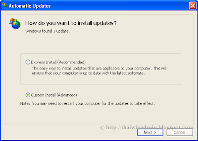 How do you want to install updates