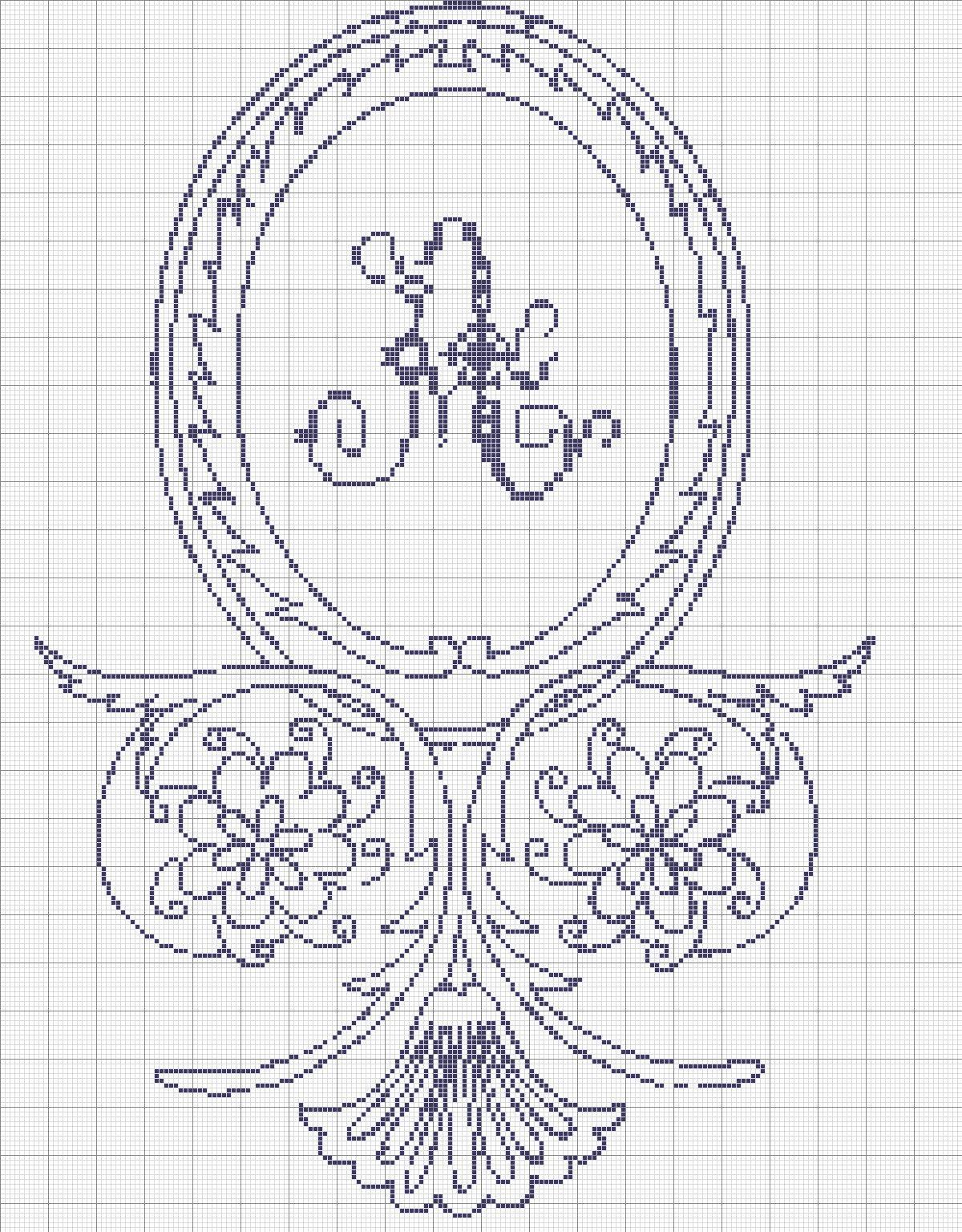 Ricamando-online: Rosone Centrale Monocolore A-B-C-D