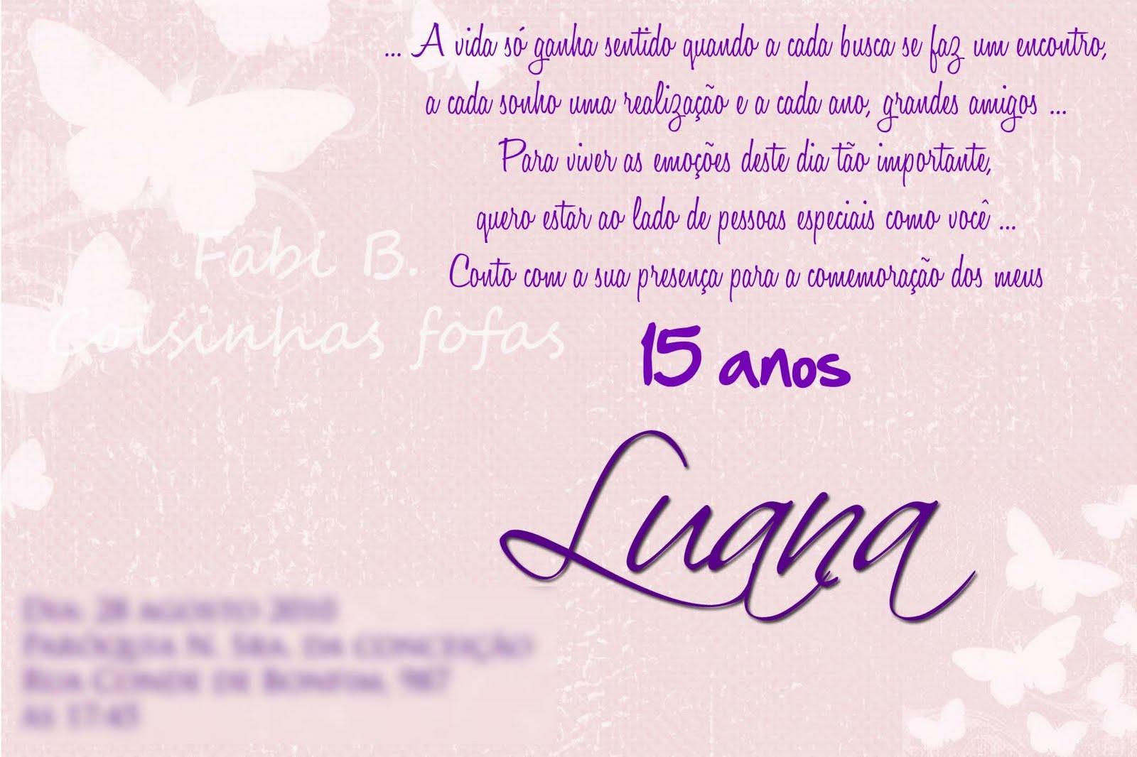 Textos De Aniversario Para Pai Tumblr: Fabi_b: Convite 15 Anos