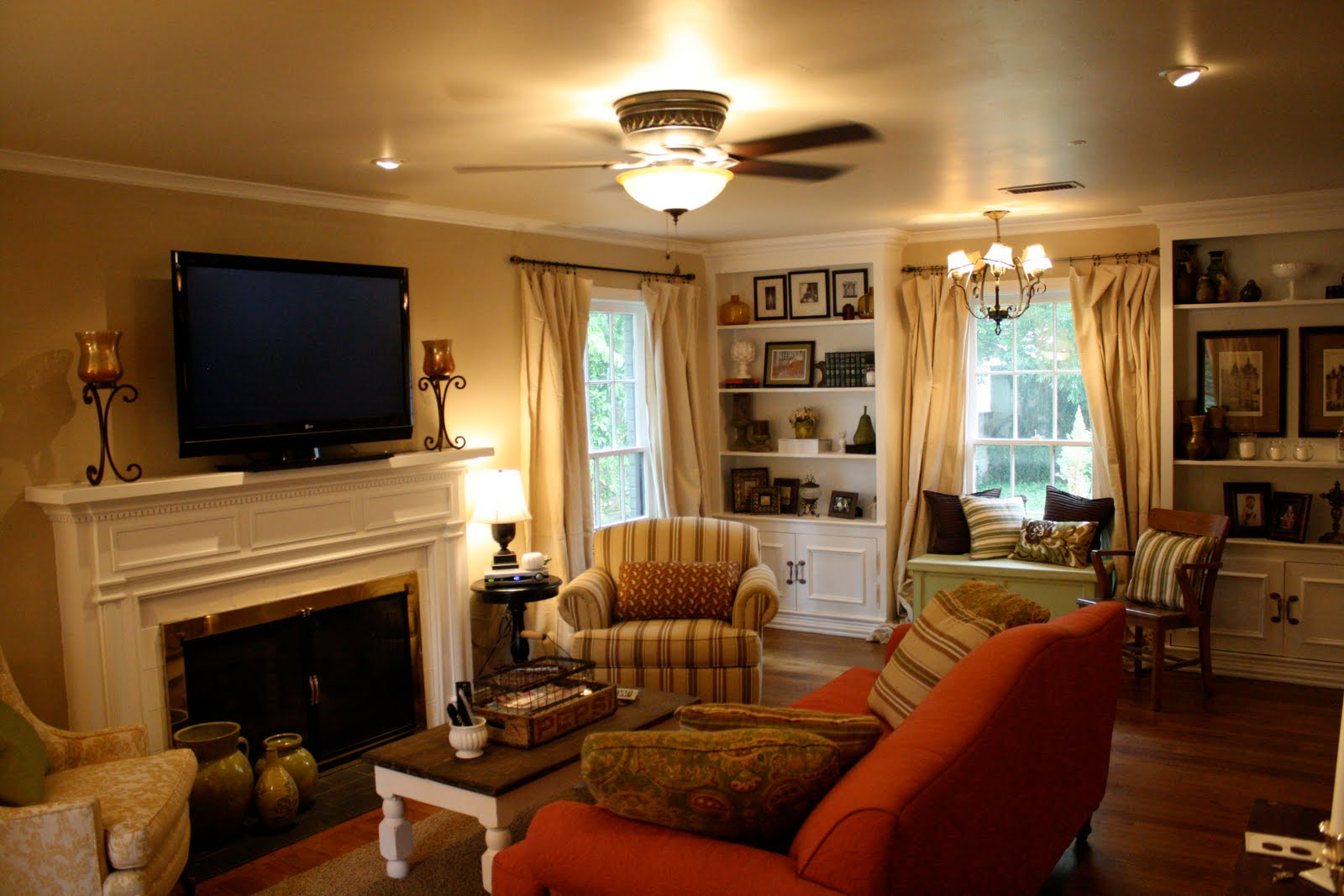 Remodelaholic updated living room from italian to - Country cottage style living room ideas ...