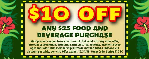 photo regarding Rainforest Cafe Printable Coupon named Rainforest restaurant personal savings / Lily lead promo code