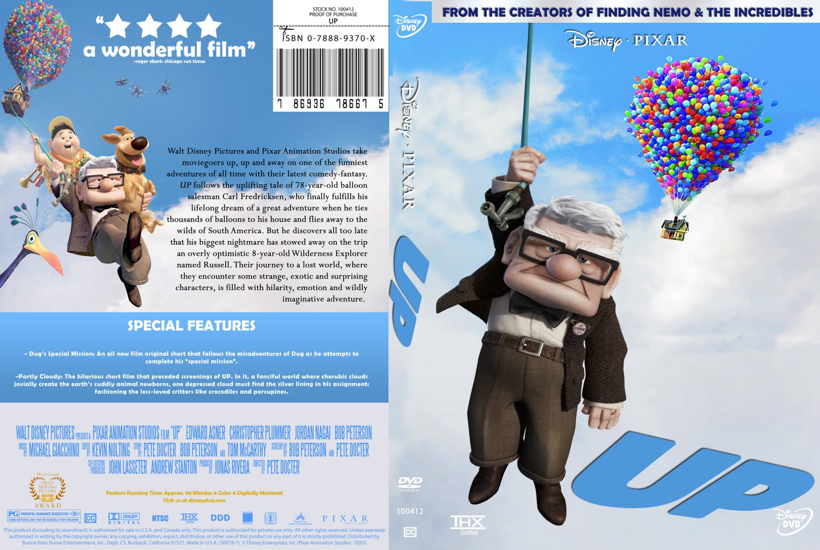 Design Practice: Custom DVD Cover- UP (2009)