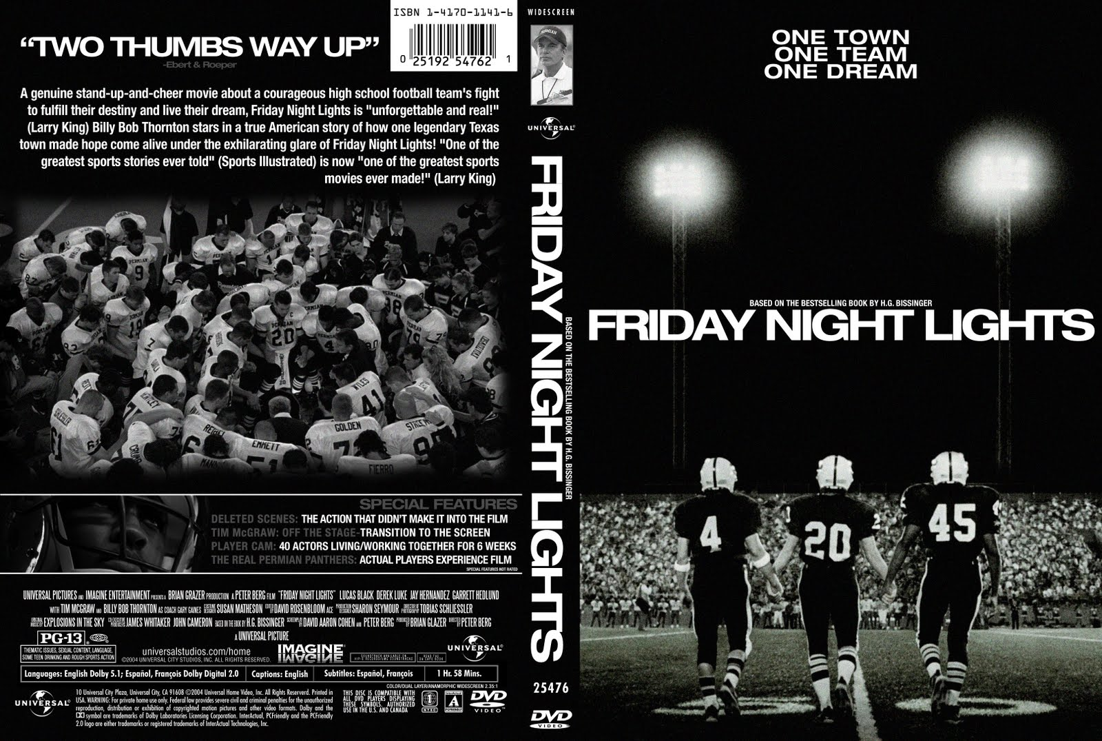 Design Practice: Custom DVD Cover-Friday Night Lights (2004