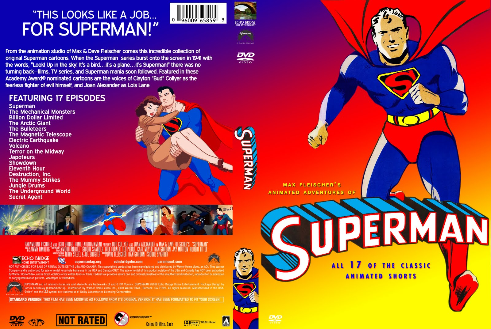 Design Practice Custom DVD CoverSuperman