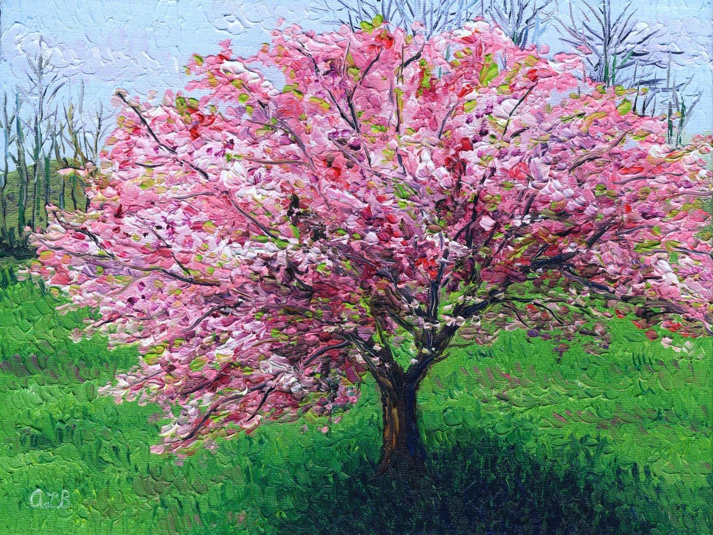 Audra's Oil Paintings: Apple Tree I and II (2010), 9 x 12 ...