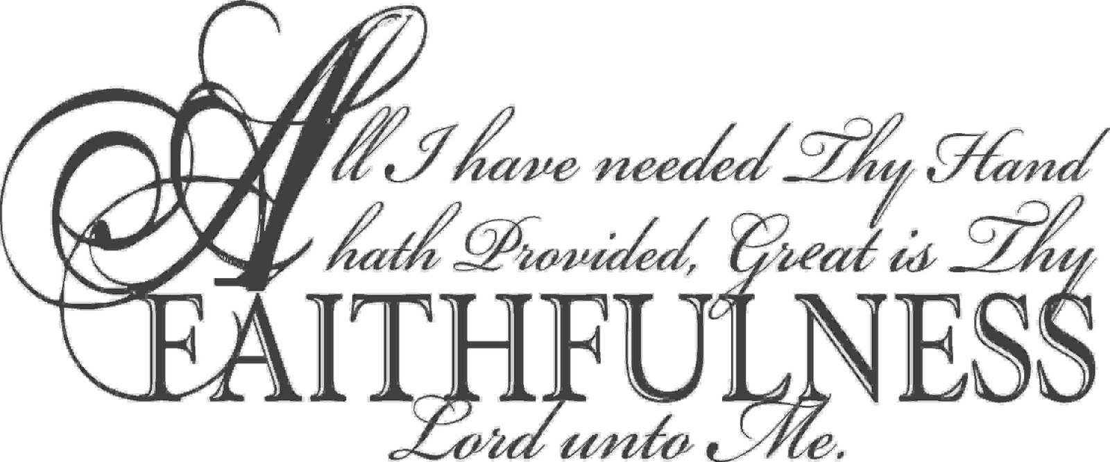 Touch of Beauty Designs: All I hath needed Thy Hand hath