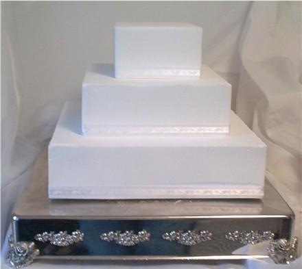 White Square Wedding Cakes Pictures Wedding Cakes