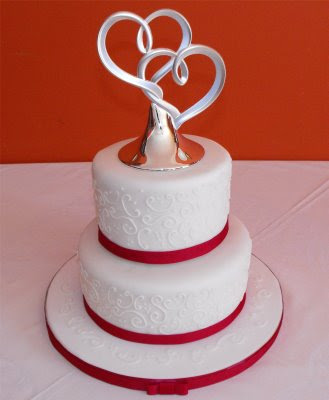 small wedding cakes with ribbon and toppers wedding. Black Bedroom Furniture Sets. Home Design Ideas