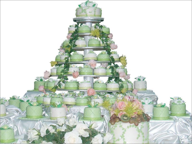 Wedding Cake Cupcake Ideas: Green Cupcake Wedding Cakes
