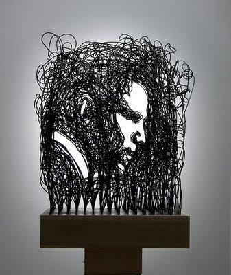 Incríveis esculturas feitas de arame