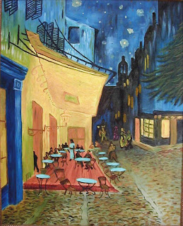 2. Café Terrace at Night by Vincent Van Gogh