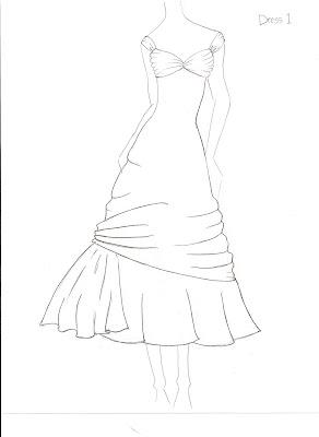 Hannah LaRue: Dress Sketches