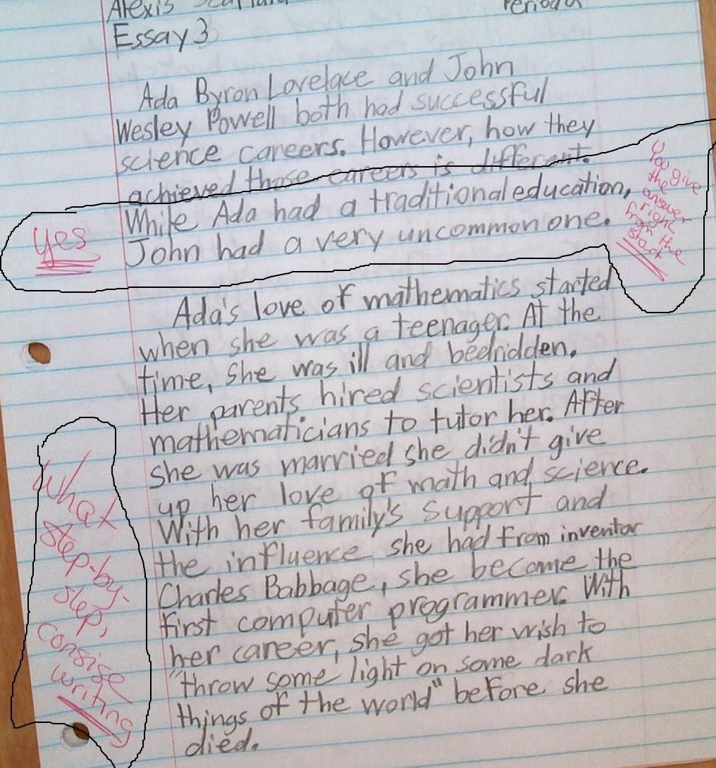 ada byron lovelace and john wesley powell essay